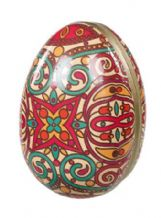 Decorated cardboard Easter Egg 12cm Patterned